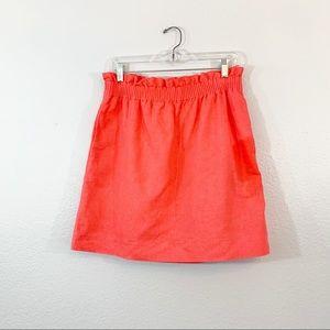 J. Crew City Mini Skirt Linen Cotton Blend